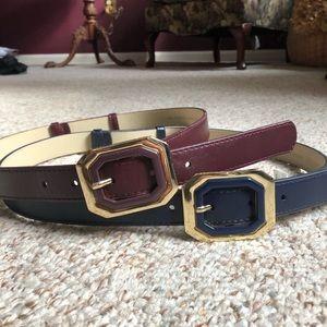 """The Limited Adjustable 1""""  Belts — Set of 2"""